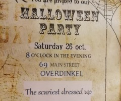Halloween party Oos cafë
