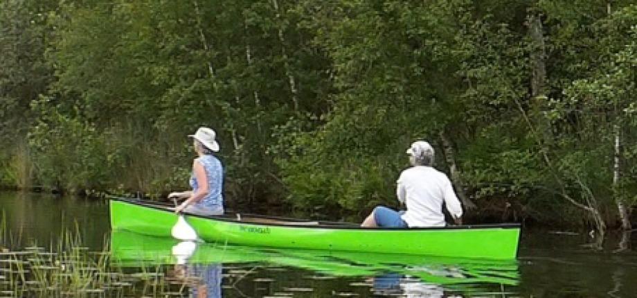 Twee persoons kano (vroeger Canadees genoemd)