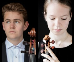 Hawijch Elders (viool) en Tom Feltgen (cello)