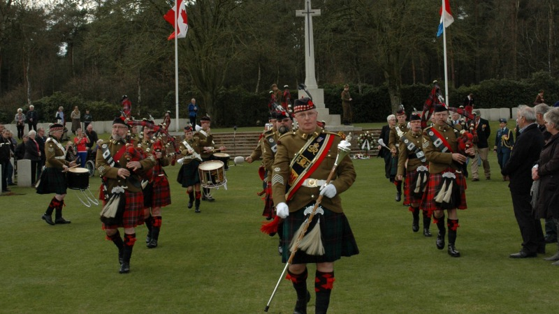 Herdenking 48th Highlanders of Canada