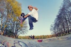 Skateboardbahn