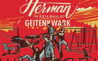 HERMAN IN EEN BAKJE GEITENKWARK