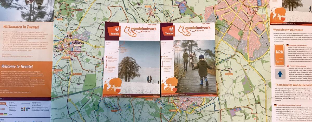 de nieuwe wandelnetwerkkaarten twente zijn verkrijgbaar bij vvv de