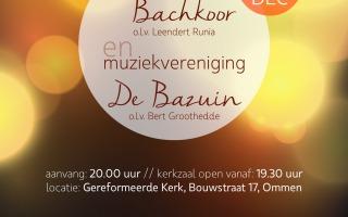 Kerstconcert Sallands Bachkoor en Muziekvereniging de Bazuin