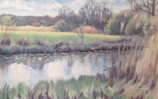 Expositie van schilderijen van Harrie Soepenberg