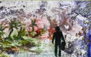 Expositie van tekeningen en schilderijen