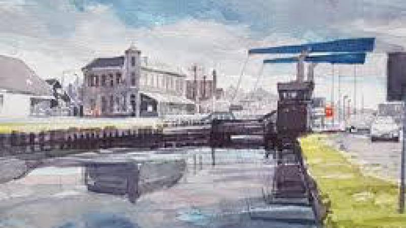 Expositie aquarellen Hans Jansen over Vriezenveen