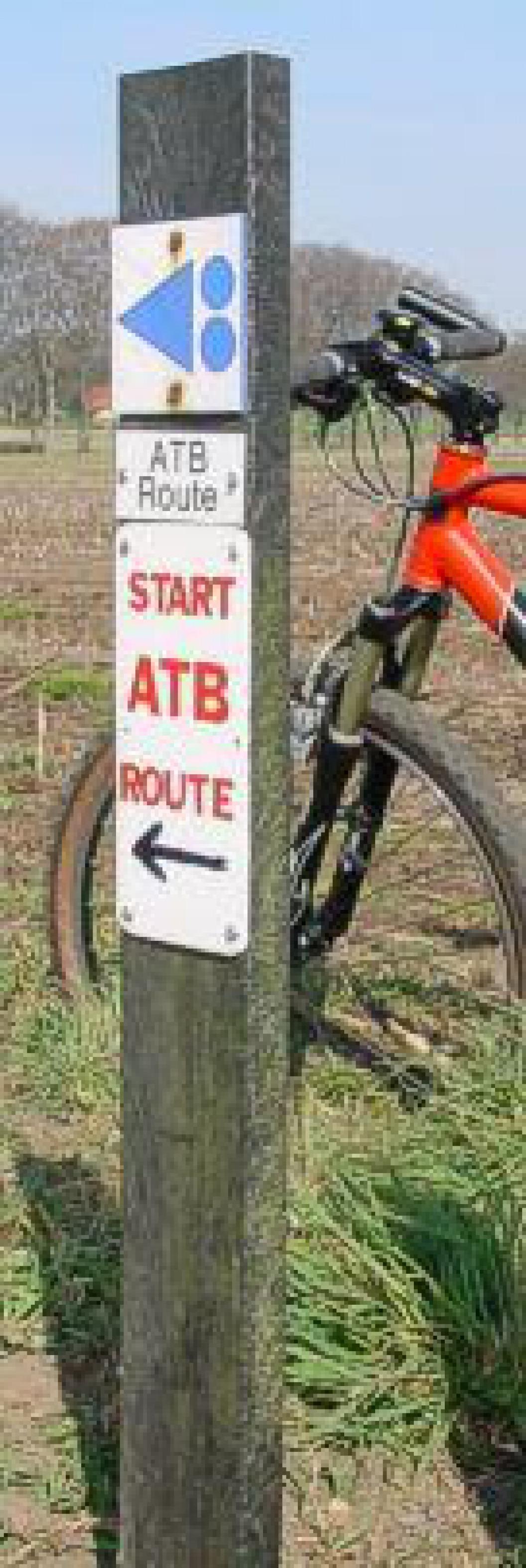 Start blauwe MTB route Holten