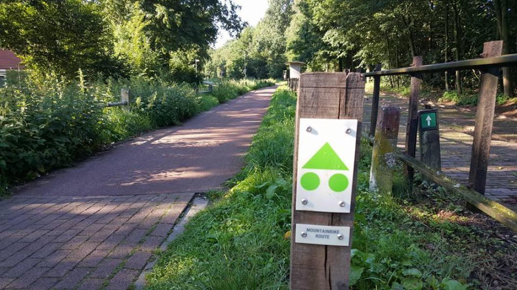 Start groene MTB route Rijssen
