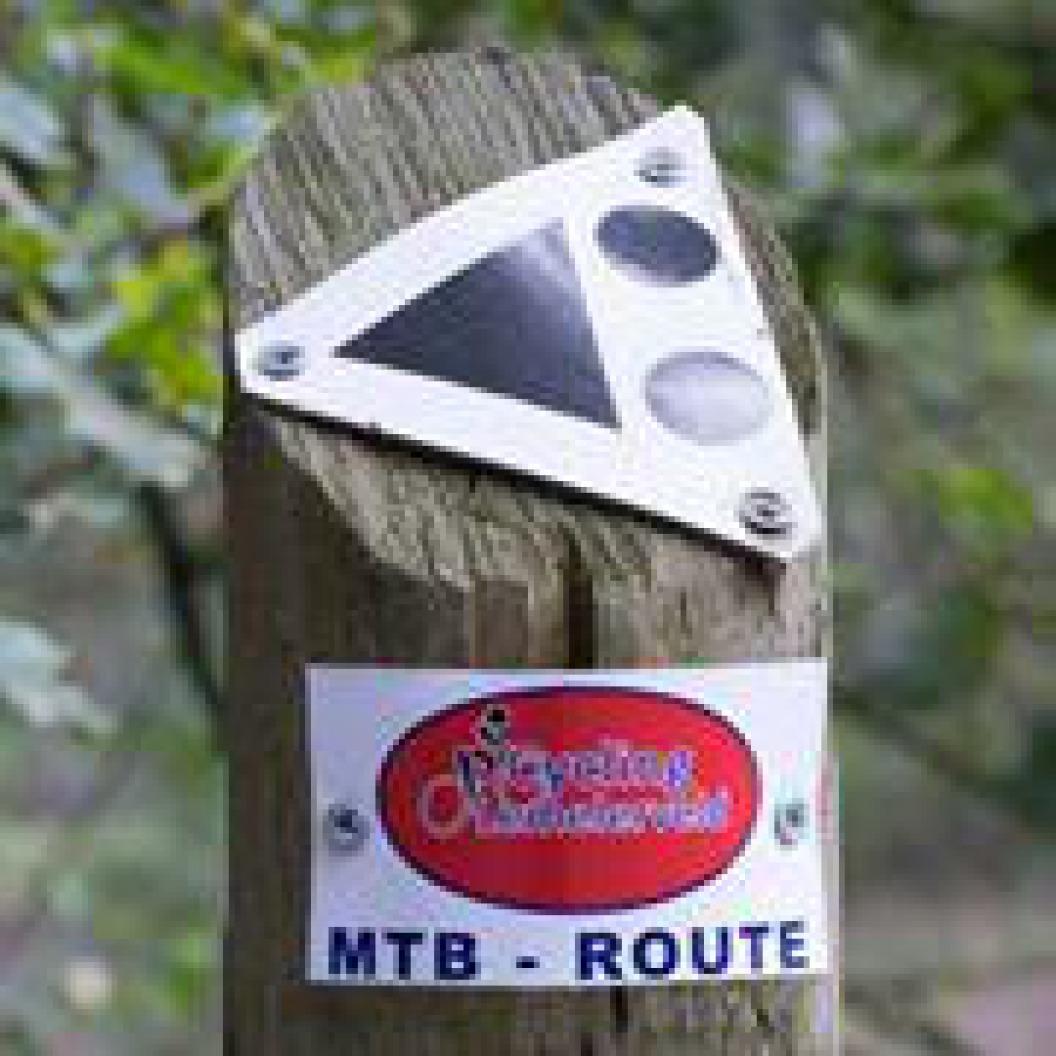 Startpunt zwarte MTB route