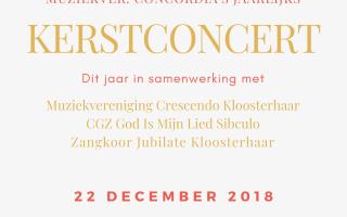 Kerstconcert; koren & muziekverenigingen Kloosterhaar & Sibculo!