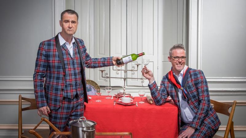 Jeroen Stek & Ton Kemp; Aan tafel met je schoonmoeder in Cultuurhuus Braakhekke