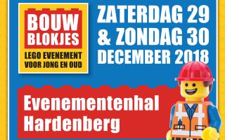 Bouwblokjes Hardenberg 29 & 30 december 2018 in Evenementenhal Hardenberg