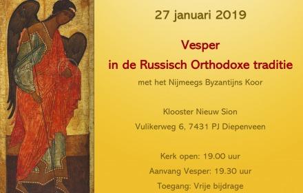 Russisch Orthodoxe Vesper in Nieuw Sion