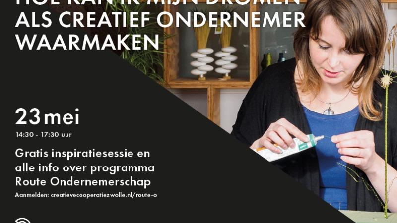 Inspiratiesessie: Hoe kan ik mijn dromen als creatief ondernemer waarmaken?