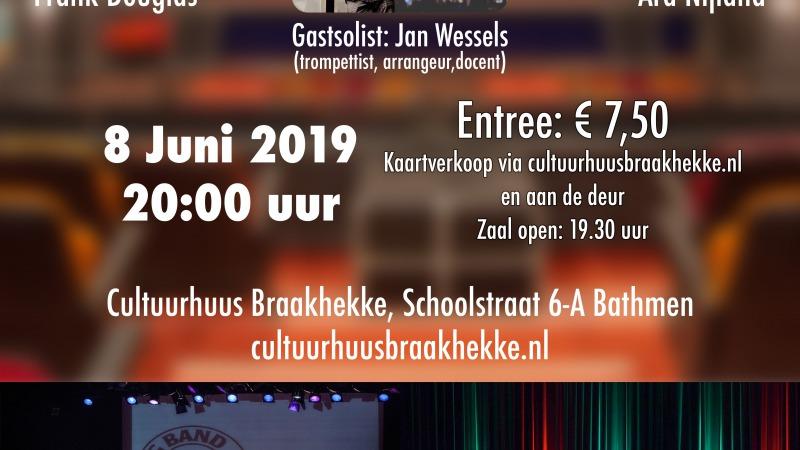 Dubbelconcert Hanzestadband en Big Band Straight Ahead met Gastsolist Jan Wessels