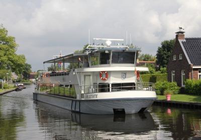 Het loopt storm voor cruise door Weerribben-Wieden