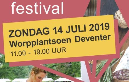Zeldzaam Mooi Festival in zomers Deventer