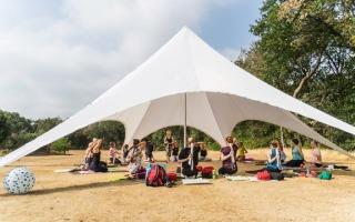 Yoga op de camping