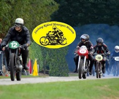Demo races oldtimer motoren in Albergen