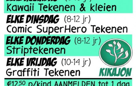 Zomerworkshops: Comic Super Hero Tekenen