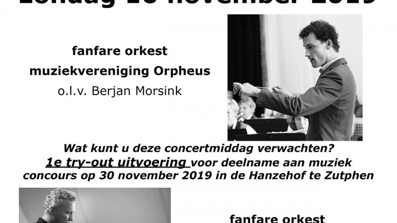 Try out concert Orpheus Bathmen