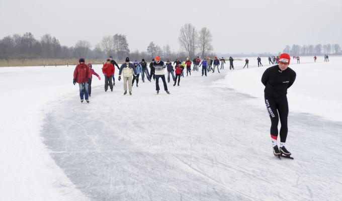 Koning van de schaatstochten in Weerribben-Wieden: de Overijsselse Merentocht