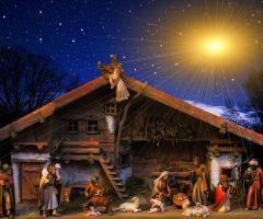 Levende kerststal in Geesteren