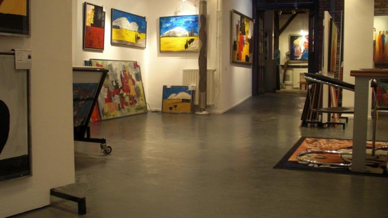 Alberts Kunstuitleen, Galerie en Lijstenmakerij