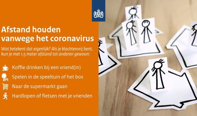 Afstand houden vanwege coronavirus