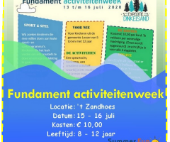 Summer Sun Festival Fundament Activiteitenweek