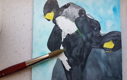 Workshop (koe) schilderen o.l.v. kunstenares Bertina Tilma