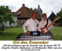 Het duo Remember bij 't Trefhuus Overdinkel
