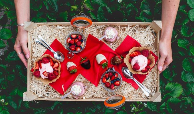 Heerlijk genieten van zomerse streekproducten uit de regio.