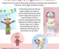 Workshop Amigurumi haken met Mrs Milly