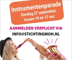Instrumentenparade bij stichting MOH