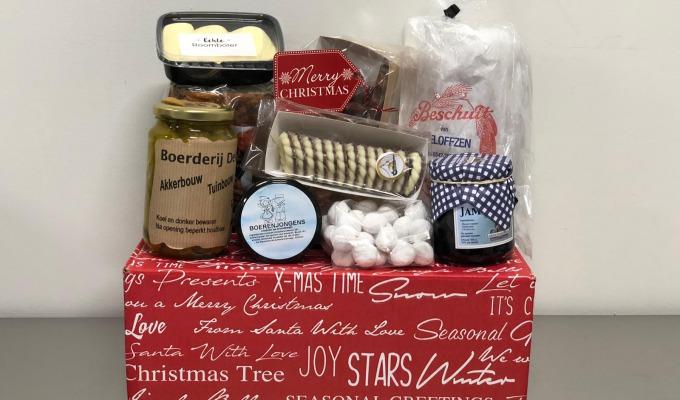 Kerstpakket van streekproducten
