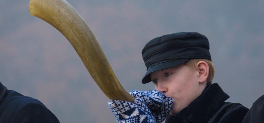 Ossenhoornblazer in Markelo | Foto: Marjan Noteboom