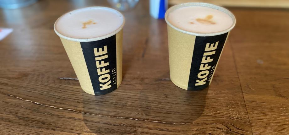 Lekkere cappuccino bij Schenkerij PoortBulten
