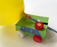 Bouw een rijdende auto voor kinderen online workshop