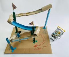 Maak je eigen knikkerbaan voor kinderen online workshop