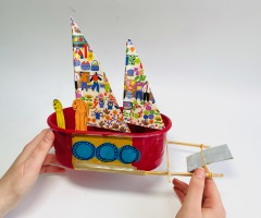 Bouw een varende motorboot voor kinderen online workshop