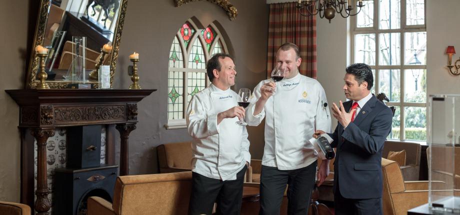 SVH Meesterkok Michel van Riswijk, Chef de Cuisine Matthijs Mulder, Maitre d'Hotel-Sommelier Sofien Oueslati
