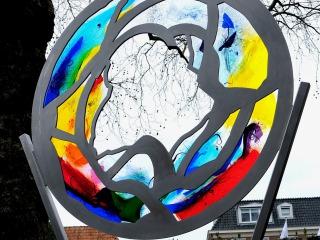 Nieuw glaskunstwerk