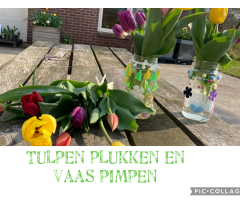 Vaas pimpen en tulpen plukken