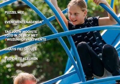 Vakantiekrant Zomer in de Hof 2021 met o.a. tips, agenda en fietsroute in Hof van Twente