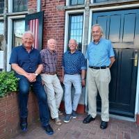 Werkgroep Heemkunde (vlnr): Albert vd Maat, Ab Vincent, Wim Nijenhuis en Anne Jansen