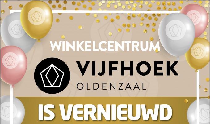 Winkelcentrum De Vijfhoek Oldenzaal is vernieuwd