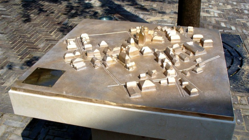 Maquette oude centrum van Denekamp