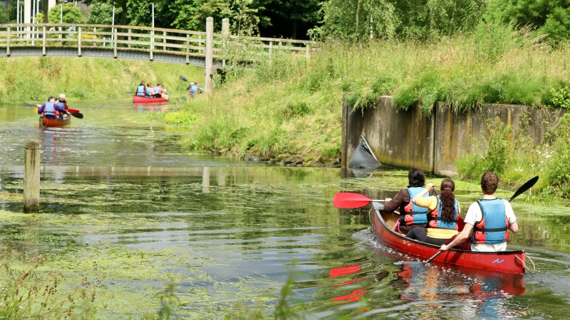Kanotochten op de Bornse Beek